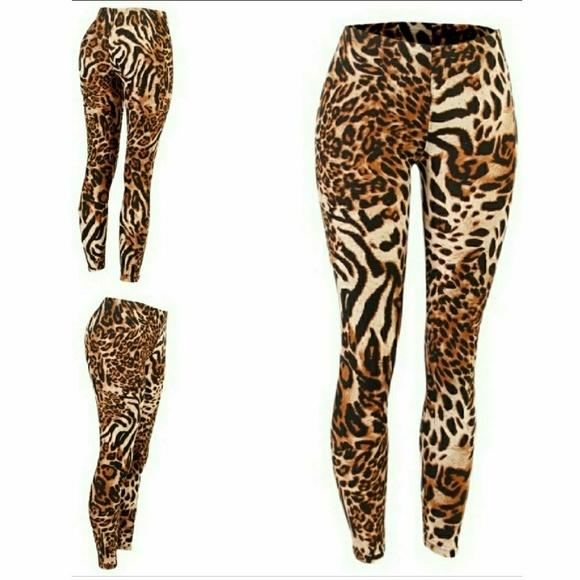 Pants & Jumpsuits | Super Soft Animal Print Leggings Nwt Size Small |  Poshmark